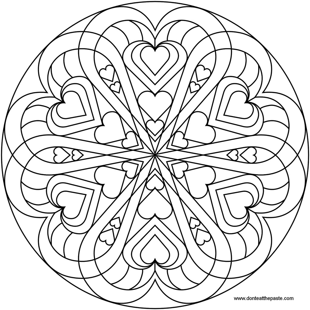 Love Mandala Coloring Pages Coloring Pages